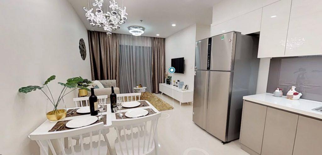 Minh họa nhà mẫu căn 3 phòng ngủ Vinhomes smart city