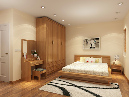 Nội thất gỗ sồi trong trang trí phong ngủ