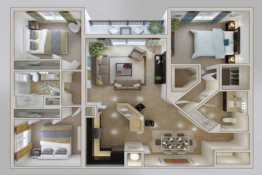 Cách bố trí mặt bằng chung cư tổng thể cho căn hộ của bạn