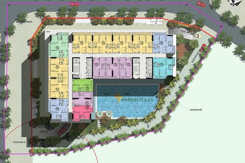 Mặt bằng chung cư An bình Plaza